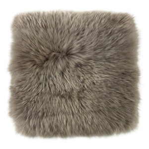 Fibre Sheepskin Cushion - Square in Vole