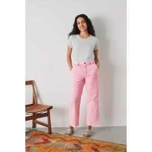Leon & Harper Phil High Wst Wide leg Jeans Pink/Gum