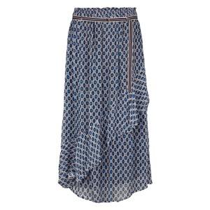 Lise Graphic Ruffle Skirt Princess Blue