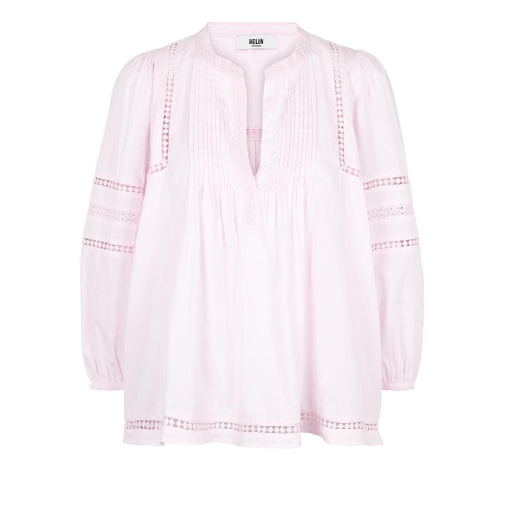 Moliin Jasmine Pintuck Bln Slv Top Pink Lady