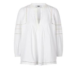 Jasmine Pintuck Bln Slv Top White