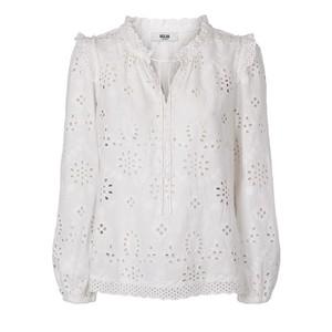 Tasja Emb Ang L/S Blouse White