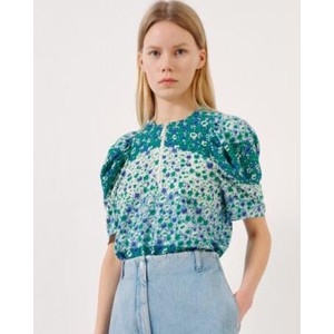 Mckenzie S/S Floral Blouse Green Ditzy Mix