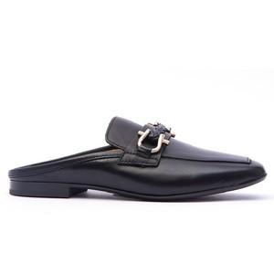 Plaited Snaffle Slide Loafer Black