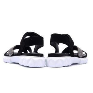 Alpe Diamante X Strap Chunky Sandal Black