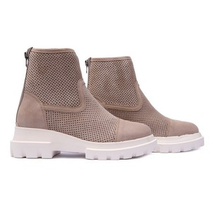Alpe Diamond Cut Out Suede Boot Sable