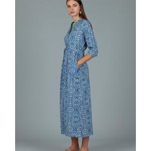 Dorris Cover Printed Dress Lama Blue