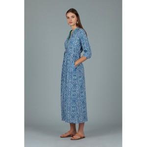 Dream Dorris Cover Printed Dress Lama Blue