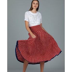 Arista Floral Skirt Shanghai Red