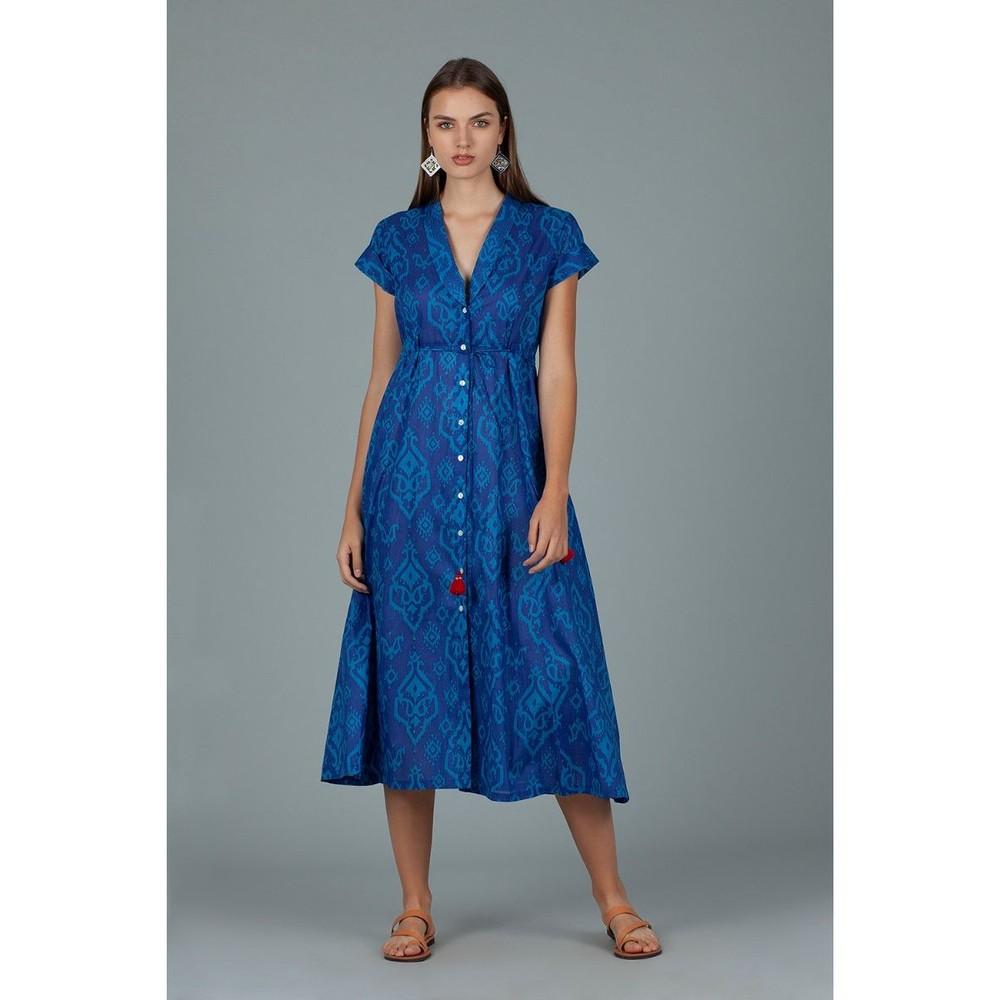 Dream Campbell S/S V/N Print Dress Triurg Blue on Blue