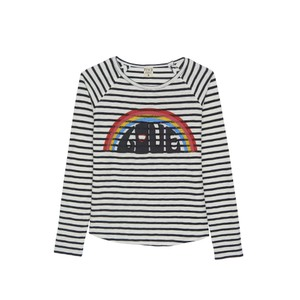 Five Rainbow Love Stripe Top Off White/Multi