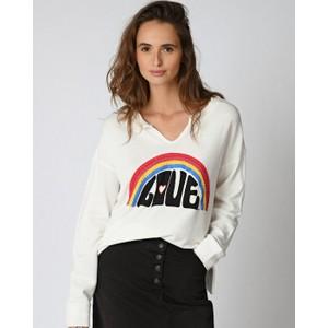 Rainbow Love Sweater White/Multi