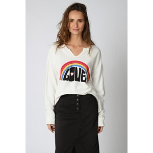 Five Rainbow Love Sweater White/Multi