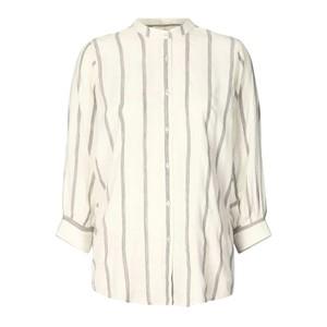 Ralph Stripe Puff Slv Shirt White/Grey