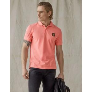 Belstaff Short Sleeved Polo Shell Pink