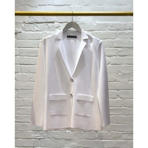 Stretch Knit Blazer White