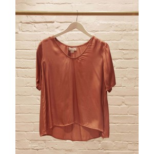 Tita Scoop Neck Top Dusty Rose