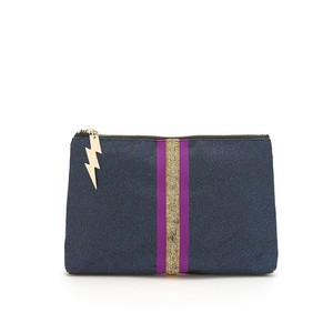 Glitter Clutch Bag Navy