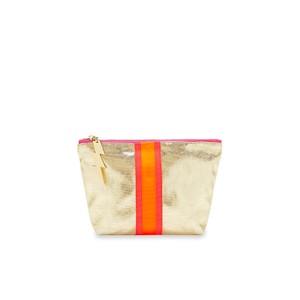 Shiny Gold Make Up Bag Gold