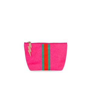 Stripe Make Up Bag Pink