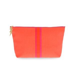 Stripe Wash Bag Orange