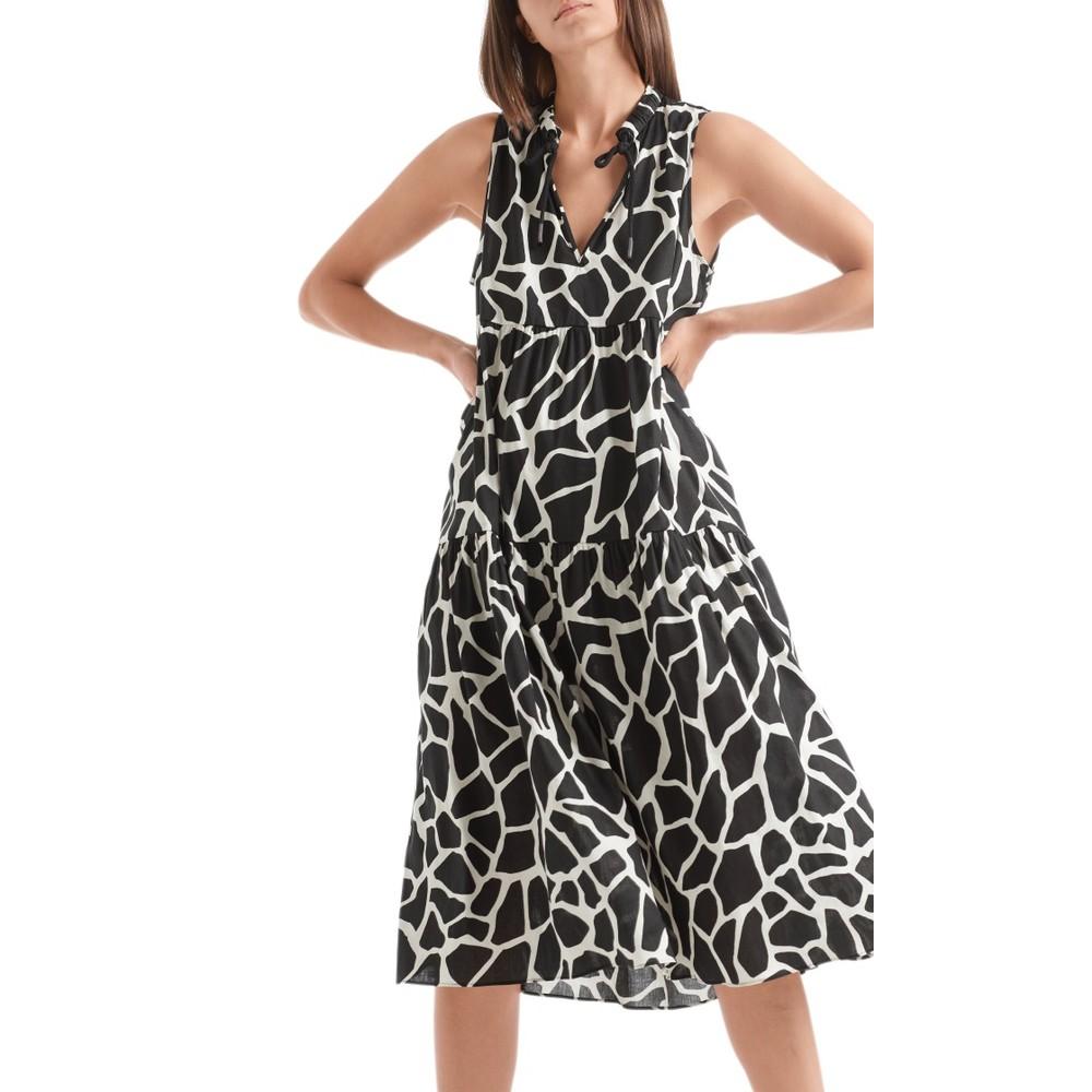 Marc Cain Giraffe Print Dress Cashew