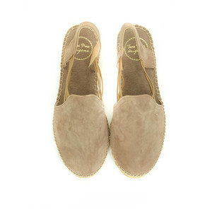 Toni Pons Nuria Suede Shoe with Stretch Sides Taupe