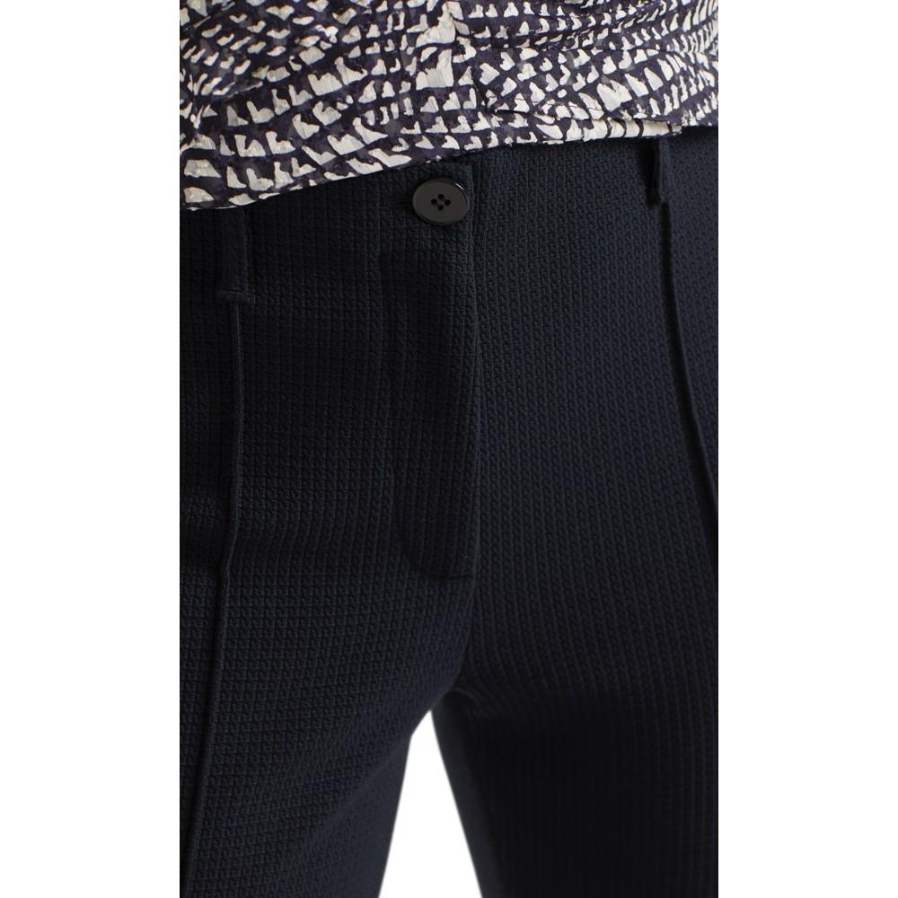 Marc Cain Slim Leg Textured Jersey Trouser Midnight Blue