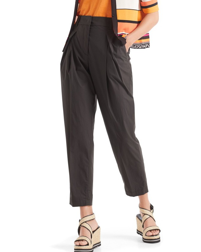 Marc Cain Turn Up Pleated Trousers Arabica