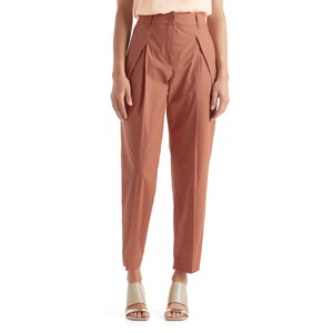 Marc Cain Turn Up Pleated Trousers in Henna