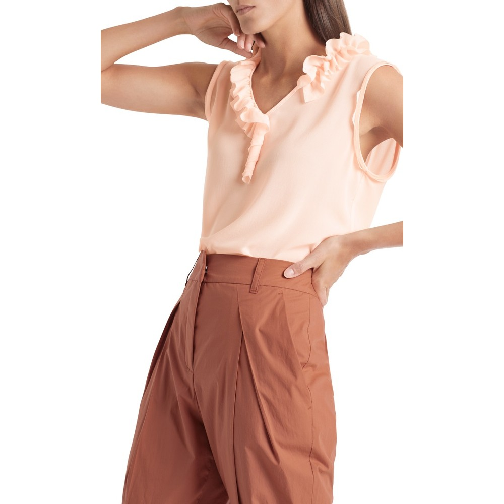 Marc Cain Turn Up Pleated Trousers Henna