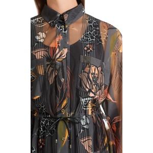 Marc Cain Tropical Print Fully Sheer Dress Rhino