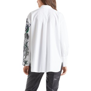 Marc Cain Half Tropical Print Shirt White