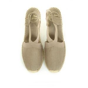 Toni Pons Ter Canvas Wedge with Stretch Sides Taupe