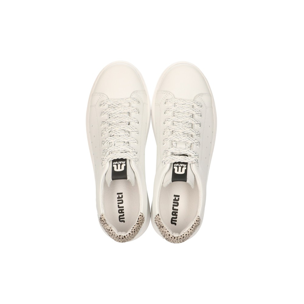 Maruti Claire Leather Trainer Pixel Off White/Black