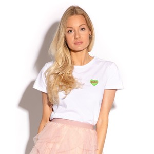 Believe T Shirt White/Green