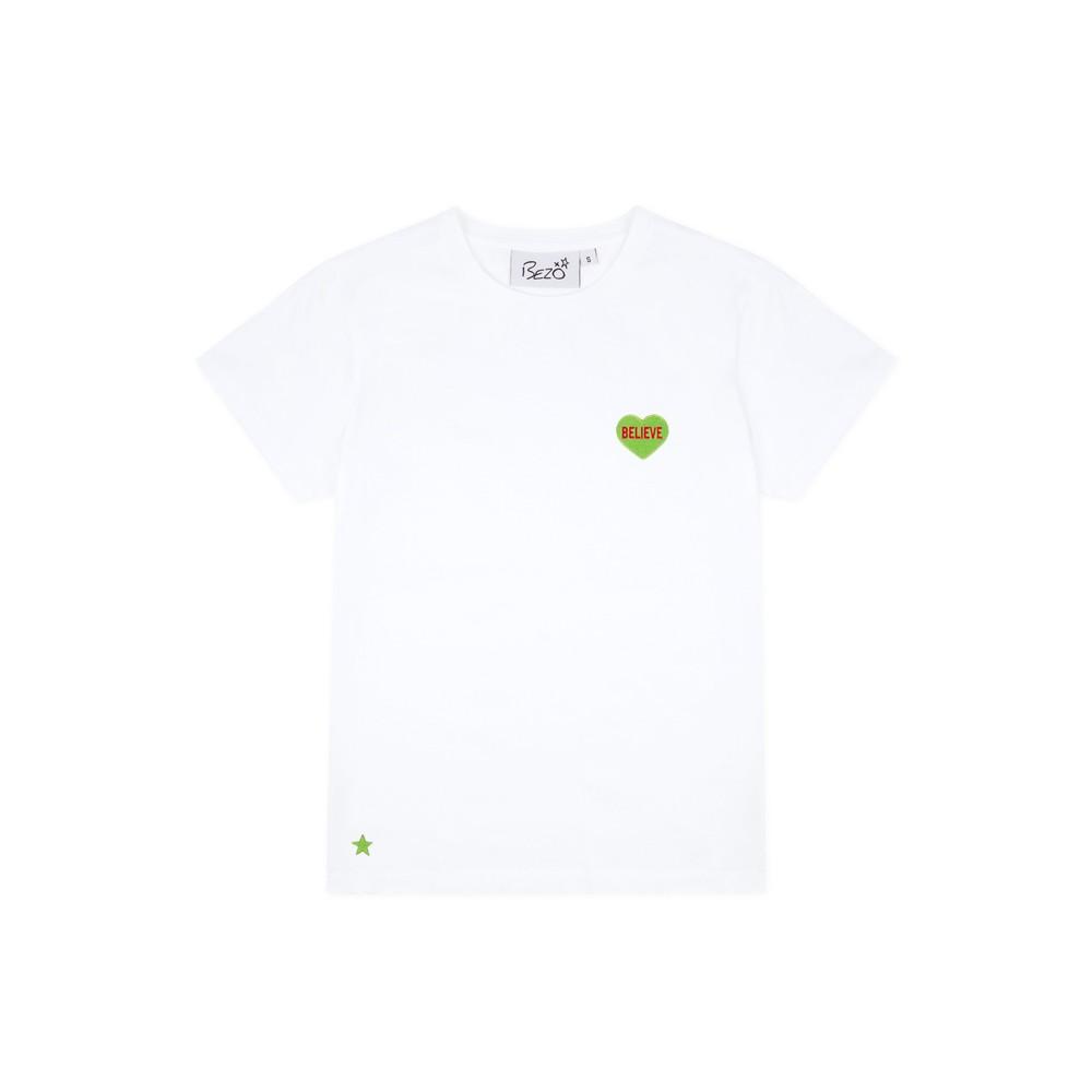 Bezo Believe T Shirt White/Green