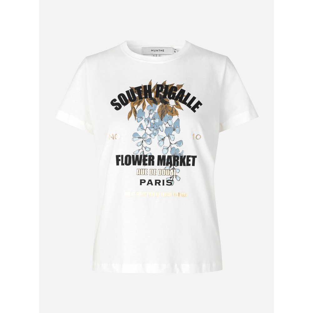 Munthe Formal Flower Market Tee White/Multi