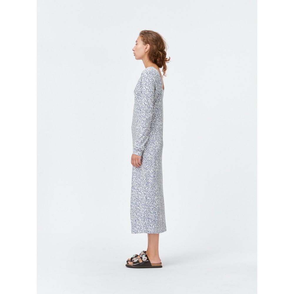 Munthe Feri Cheetah Print L/S Dress Off White/Blue
