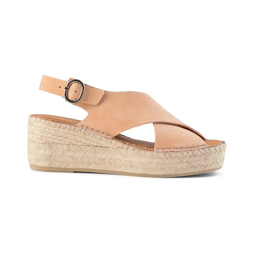 Shoe The Bear Orchid Cross Strap Sandal Apricot