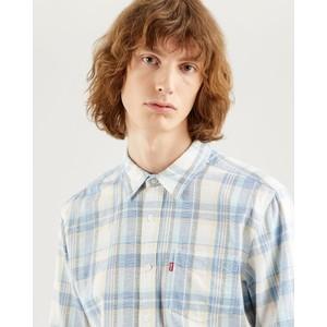 Levis Sunset Check Slim Shirt Nigel Star Sapphire