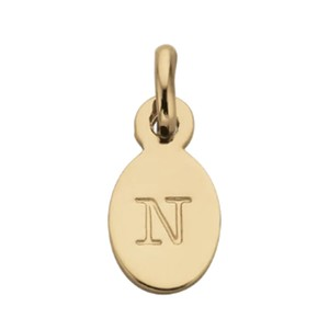 N - Oval Letter 18K Gold Plated