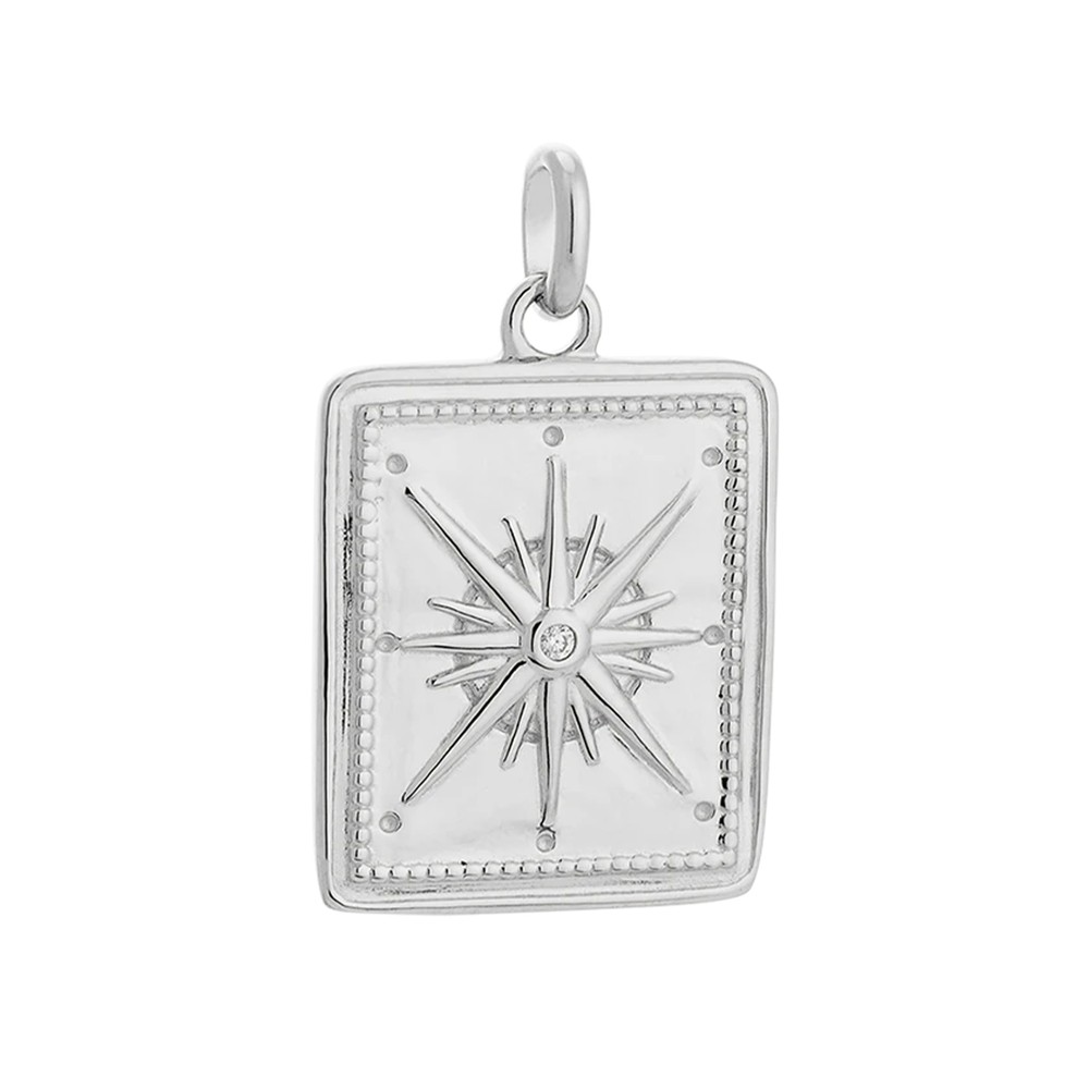 Kirstin Ash True North Coin Charm Sterling Silver