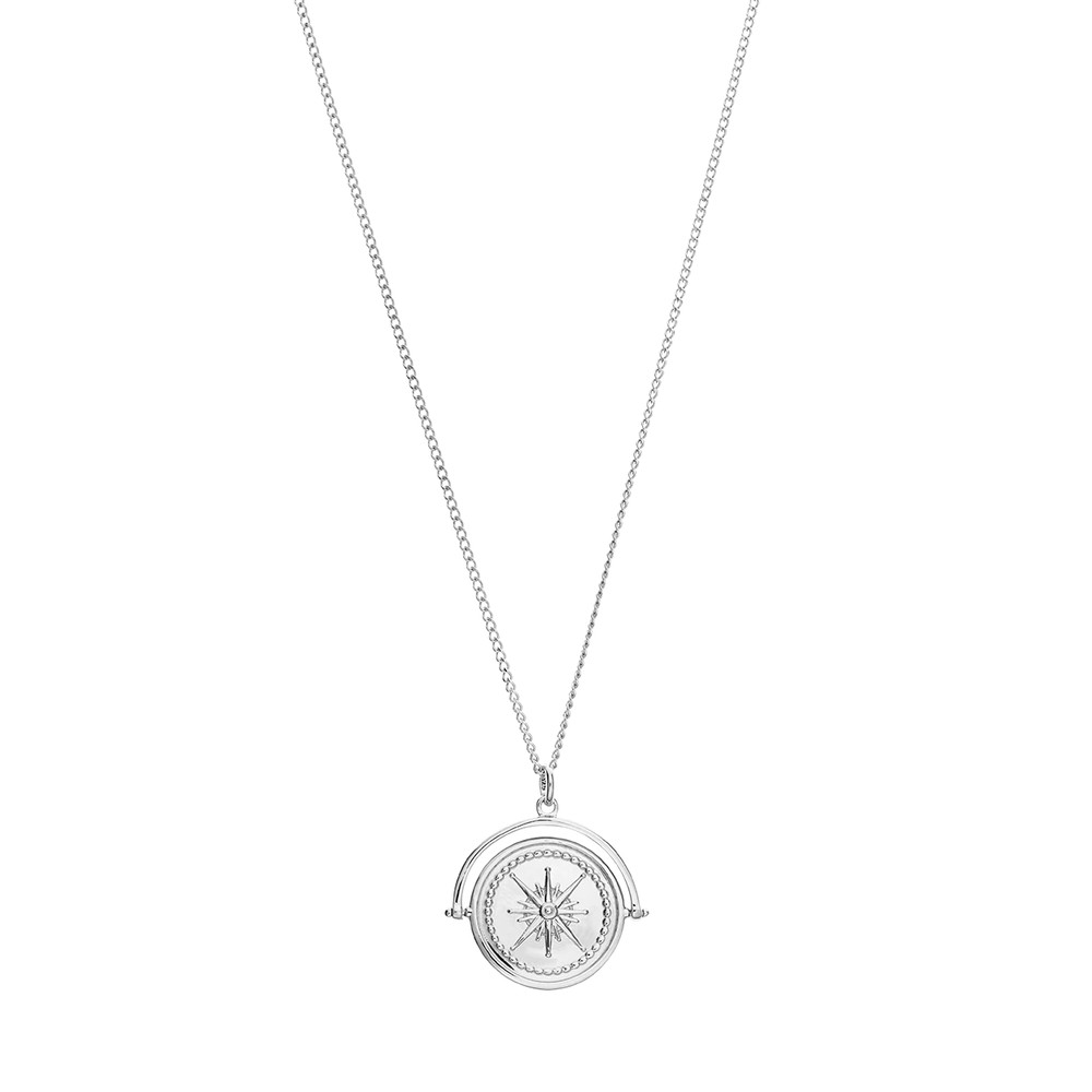 Kirstin Ash True North Spinner w Chain Sterling Silver