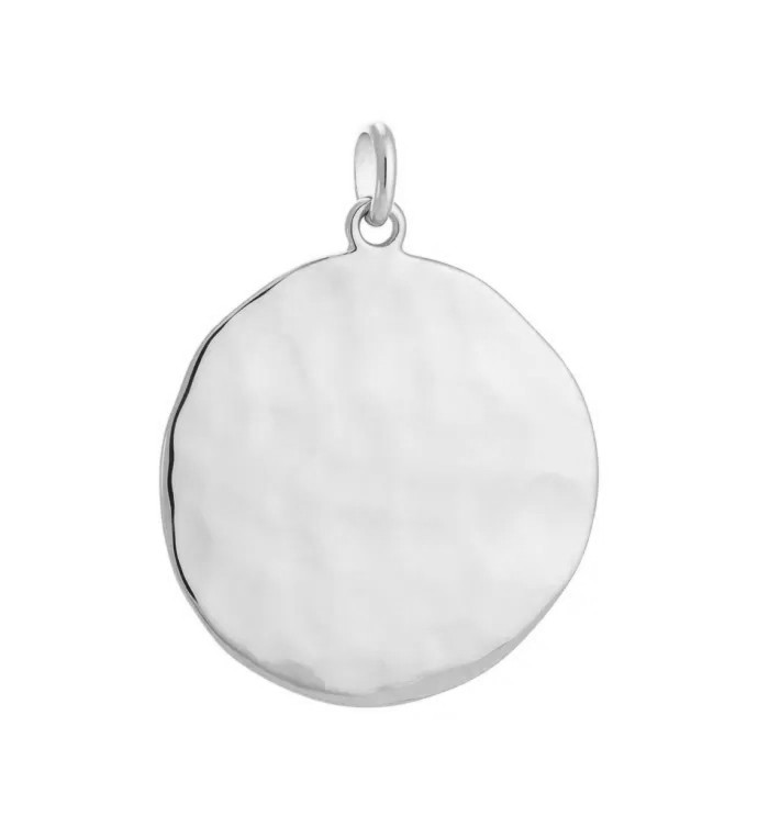 Kirstin Ash Large Circle Charm Sterling Silver