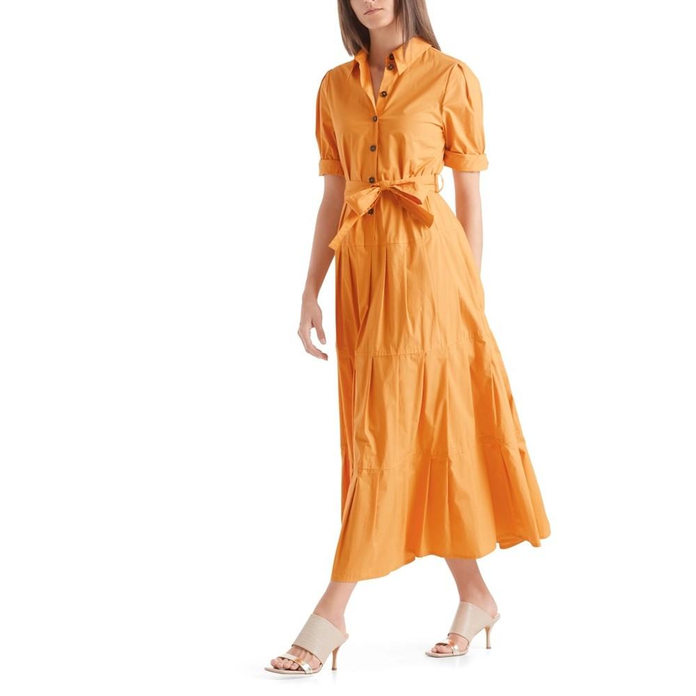 Marc Cain Belted Shirt Dress Masala