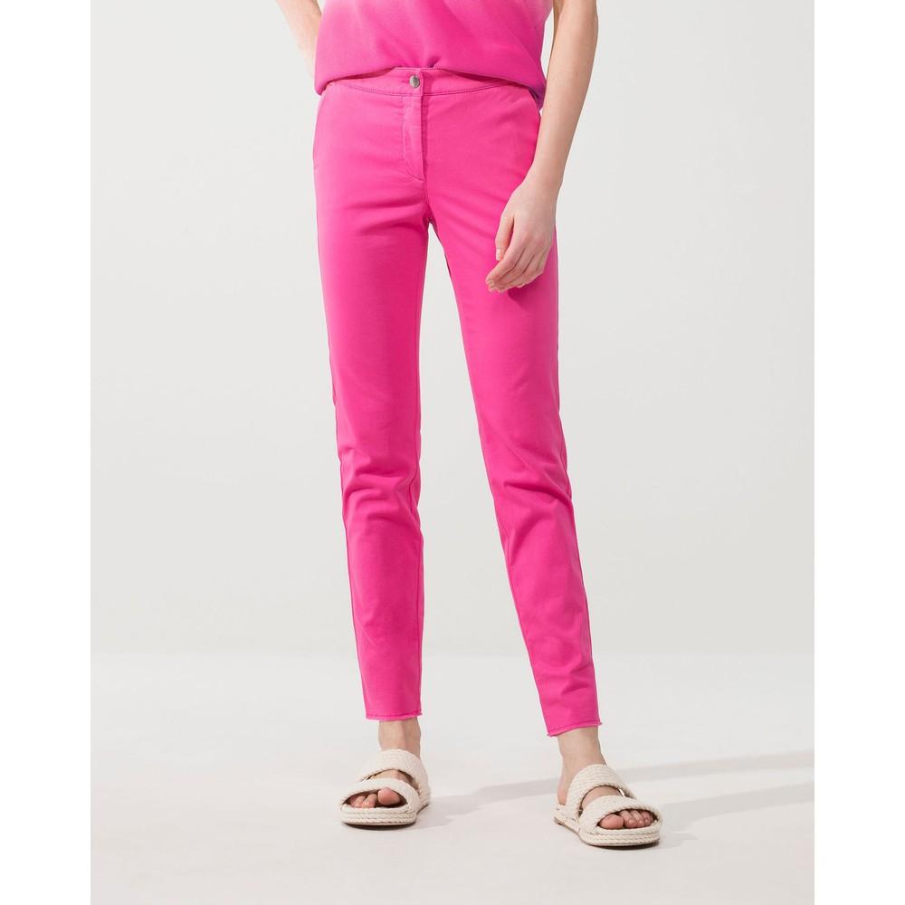 Luisa Cerano Turn Up Fringe Hem Trousers Hot Pink