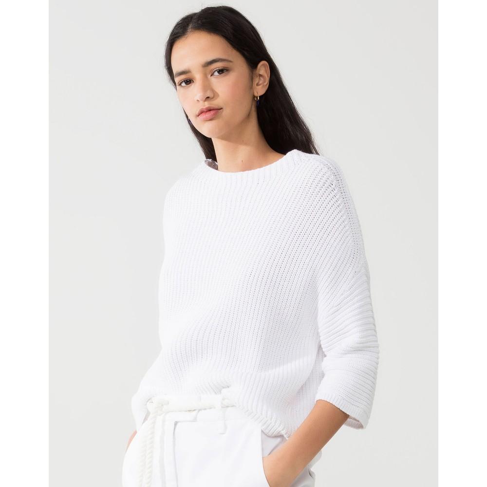 Luisa Cerano Chunky Rib Knit Jumper White