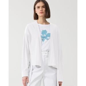 Side Ties Open Short Cardigan White
