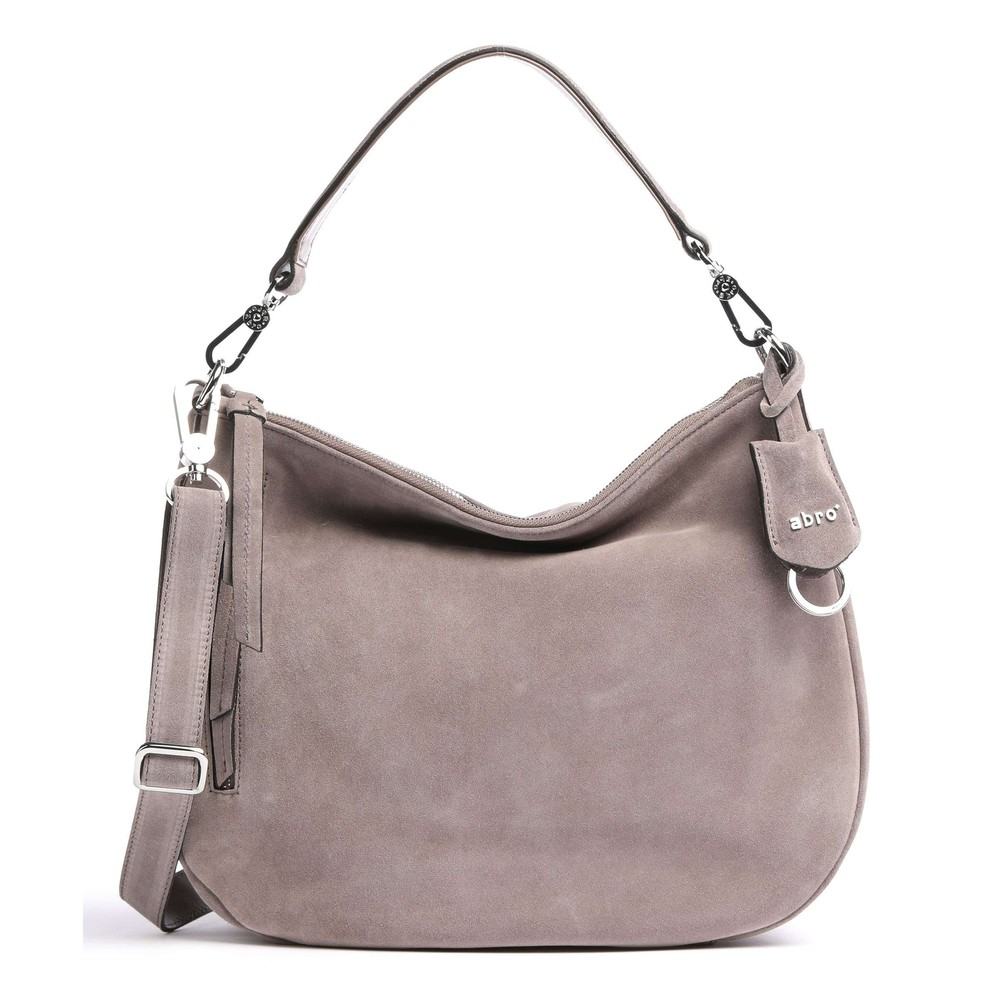 abro Juna Small Suede Hobo Taupe